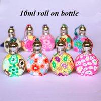Bunte Rolle 10ml rollen auf Parfümflasche-Polymerton-leeren nachfüllbaren Flasche Glasrollen-ätherisches Ölphiolen