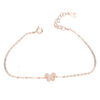 Bracelet à breloques en argent sterling 925 avec cz pavé pour cadeau de mode jeune fille