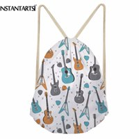 INSTANTARTS Music Note Men Drawstring Bag 3D Vintage Guitar ...