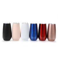 6OZ stainless steel tumbler egg cups 7 colors mugs double wa...