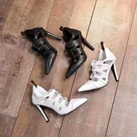 Real Leather Sexy High Heels Sandals 2018 Pointed Toe Nigh O...