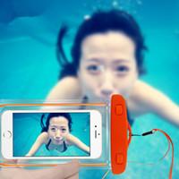 Yaz Su Geçirmez Çanta Kılıf Evrensel Cep Telefonu Çantası Noctilucent Yüzme Kılıfı iPhone Sumsung Huawei Için Su Altında Kolay Fotoğraf Çekmek