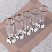 6OZ 180ml Disposable Plastic Goblet for Wine Champagne Cockt...
