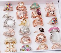 More than 100 Styles Ring Bulk Lots - Women Men Rose Gold Sl...