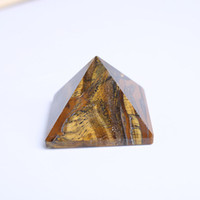 Envío de la gota Natural ojo de tigre cuarzo cristal pirámide pirámide de piedras preciosas cristales de cuarzo pulido curación pirámide para la decoración del hogar
