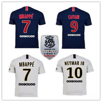 2018 19 Paris soccer jersey with ligue 1 patch 18 19 mbappe ...