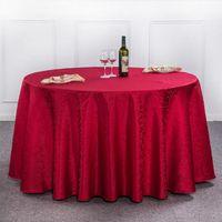 Tischdecke Tischdecke rund für Bankett Hochzeit Dekoration Tabellen Satin Stoff Tischbekleidung Hochzeit Tischdecke Heimtextilien