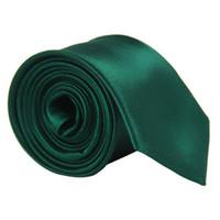 Emerald Green Body Banquete Slim Clásico Nuevo Cola estrecha y delgada del Color Sólido Corbata