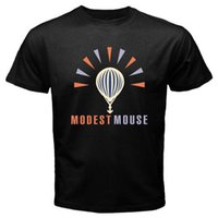 New MODEST MOUSE Logo Indie Rock Band Men' s Black T- Shi...