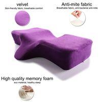 soporte para el cuello de espuma de memoria extensión de la pestaña almohada curva ergonómica perfecta manera de la almohadilla cóncava reposacabezas mejorar pillo durmiendo