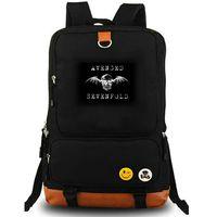 انتقم السباعي الاستيقاظ على ظهره وسقطت Daypack حقيبة موسيقى الروك والموسيقى المدرسية الكمبيوتر المحمول حقيبة قماش حقيبة مدرسية حزمة اليوم في الهواء الطلق