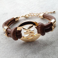 Handmade Retro PU Leather DIY Charm Charms Bracelet Punk Stu...