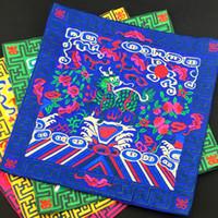 Gestickte Kirin Stoff Abendessen Chinesische Tischsets Esstisch Matte traditionelle Handwerk Satin Schutzkissen Hochzeit Dekoration 26 x 26 cm