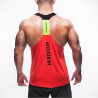 Verão roupas de marca Mens Regatas Stringer Musculação Academia absorver o suor respirar livremente Men Tanques de roupa Singlets