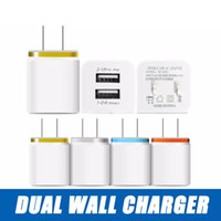 для iphone charger 5 6 7 Apple ipad phone travel wall chargers samsung phones 5V 2.1A двойной USB