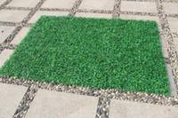 40x60 سنتيمتر الأخضر العشب الاصطناعي العشب النباتات حديقة زخرفة البلاستيك سجادة جدار شرفة سياج للمنزل حديقة decoracion