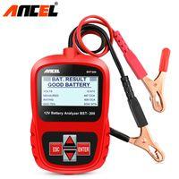 12 V araba pil tester analizörü Rus dijital araba voltmetre alternatör w / araba motosiklet tekne için LCD ekran