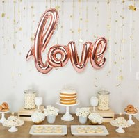 Ligatures LOVE Letter Foil Balloon Anniversary Wedding San Valentino Birthday Party Decoration Ti amo cuore Photo Booth Props