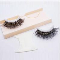 Auto-adhésif Mink Croix Fake Eye Lashes Multi Styles Pas de maquillage de colle Maquillage naturel EXTENSION NOIR NOIR