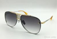 Classic 20 Anniversario Pilota occhiali da sole oro spazzolato Silver Frame Grigio Argento Occhiali da sole uomo Occhiali da sole occhiali unisex nuovo con la scatola