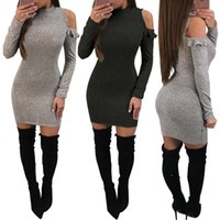 New Autumn Winter Sexy Split Bodycon Women Dresses Package H...