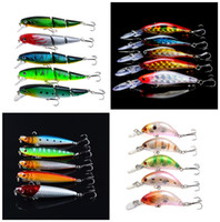 5- color Hard Plastic Lures Fishing Hooks Fishhooks 3D Eyes F...