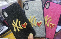 NY Love Phone Cover PINK Fashion Design Glitter 3D Embroider...