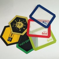 Matelas anti-adhérent en silicone Wax Dab avec tapis en feuilles carrées pour outil dabber pour bocaux à herbes sèches