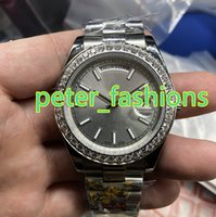 Top quality luxury men' s watches silver stainless steel...