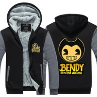 Game Bendy and the Ink Machine Cashmere Hoodie Zip Up Polyes...