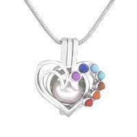 2018 nuovo cuore forma ciondolo cuore colorato fascino di modo all'ingrosso per gioielli donna 5pcs / lot P199