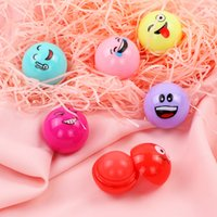 Fruity Nutritious Face Expression Cute Ball Lip Balm Lipstic...