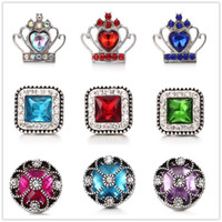 Noosa Chunks Snaps Jewelry Crystal Crown Clover Snap Buttons...
