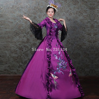 Marie Antoinette Masquerade Dress 18th Century Gown Purple C...