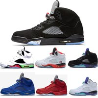 New 5s Men Basketball Shoes Military Motosports Blue Alterna...