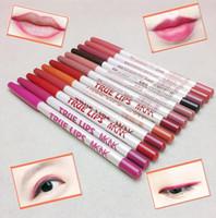 MKNK À Prova D 'Água delineador Lip Lápis de Longa Duração Maquiagem Comestic Matte lipliner 9 cores Lip Gloss DHL