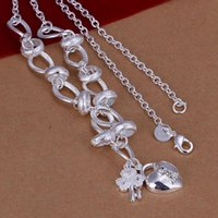 Fine 925 Sterling Silver Chain Necklace 18inch Top Quality W...