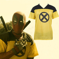 T-shirt costume cosplay movie deadpool 2 Giallo manica corta