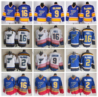 St. Louis Blues 16 Brett Hull Jersey Herren Eishockey Jahrgang CCM 2 Al Macinnis 9 Doug Gilmour 99 Wayne Gretzky 11 Brian Sutter