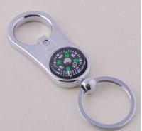 Toptan-Yaratıcı Kişiselleştirilmiş Pusula Şişe Açacağı Anahtarlık Anahtarlık Alaşım Anahtarlık Sevgililer Hediye Düğün Iyilik Malzemeleri