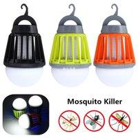 Portable Imperméable À L'eau Extérieure Mosquito Tueur LED Ampoule 2-en-1 Camping Mosquito Zapper Lanterne Électronique Volant Insectes Mosquitos Tuer Lante