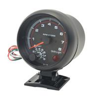 Medidor de dragão 3.75 polegada (95mm) auto carro branco blacklight tacômetro calibre 0-8000 rpm para 4.6.8 função de aviso do cilindro