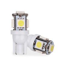 Coche T10 LED w5w 5smd Wedge Interior Bulb Light 194 168 2825 Side Parking Copia de seguridad de la Niebla Placa Licencia Freno Lámpara Placa de la puerta del coche luz 12V