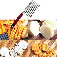 Ondas de Massa de Aço inoxidável Ondas Crinkle Cortador Fatiadoras Cozinha Em Casa Lâmina de Cozinha Lâmina Chop Cozinhar Ferramentas