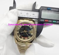 Orologio di lusso Nuovo orologio sportivo DAYDATE 228206 Serie 36 MM oro romano grandi numeri diamanti quadrante zaffiro movimento automatico uomini orologio