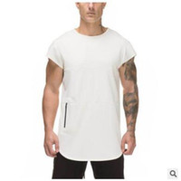 Nuevo diseño para hombre con cremallera sin mangas camisetas Verano Masculino Tops Tops Gimnass Ropa BodyBuilding Camiseta de tanques de aptitud