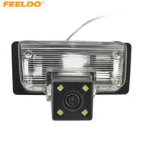 Feeldo سيارة كاميرا الرؤية الخلفية مع ضوء LED لنيسان / تينا / بالادين / تيدا / سيلفي عكس وقوف السيارات كاميرا # 4056