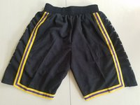 2018 New Shorts Black Manba Shorts Baseketball Shorts Running Sports Clothes # 24 City Black Colore Taglia S-XL Mix Match Ordine Alta qualità