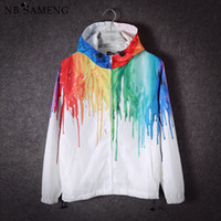 2017 New 3D Color Paint Vogue teenager quick- dry Windbreaker...