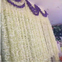 100pcs rotin Strip Wisteria Fleurs artificielles vigne pour le mariage bricolage Craft Accueil Vente Réceptions décoration de la chambre chaude.